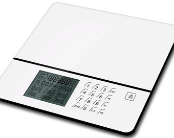 food and nutrition scale , measure calories and nutrients in meal