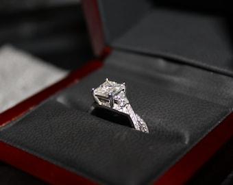 1.7ct Infinity Princess Wedding Ring