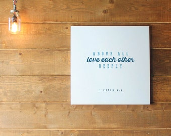 Love each other deeply Canvas Print Free Delivery