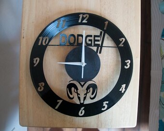 Dodge Ram themed Vinyl Album Record Clock made in the > USA < with FREE Shipping!