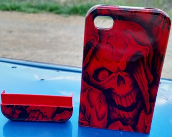 Hydrodipped Insanity Skulls iPhone 4/4S Skullcandy Phone Case