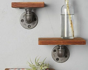 Industrial pipe tiered shelves- set of 3