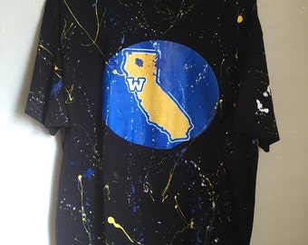 Warriors Paint Splatter Men's XL T-Shirt