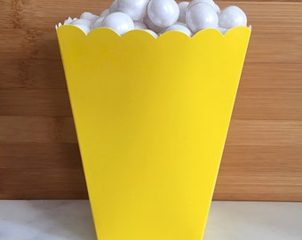 Yellow Popcorn Boxes (5)
