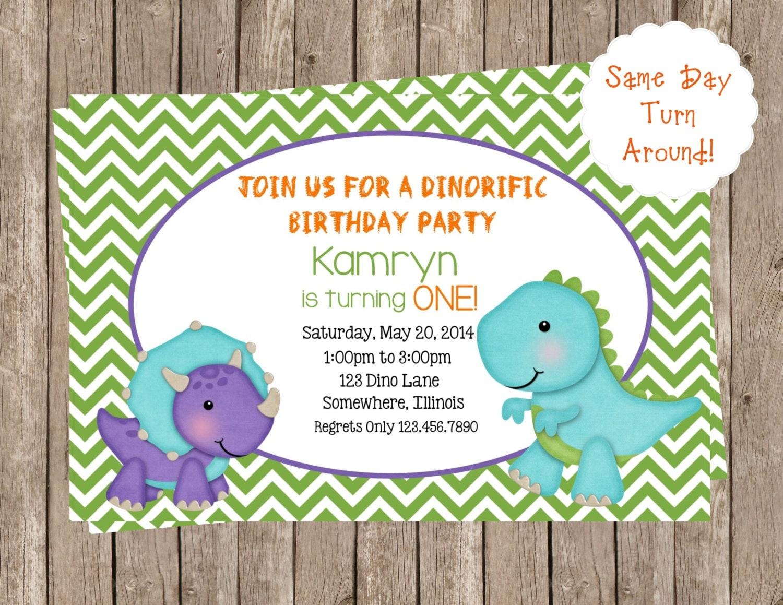 Dinosaurs Printable Party Invitations-Dinosaurs Birthday-Kid\'s ...