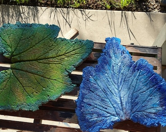 Sunflower and Zucchini  leaf Stepping Stones