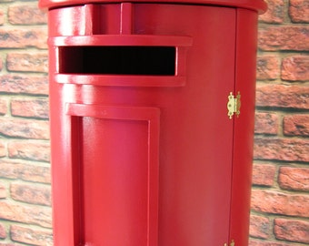 Royal Mail Red Letter / Post Box / Pillar Box Full Sized Wooden Replica