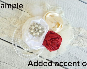 Added accent color option for flower girl headband