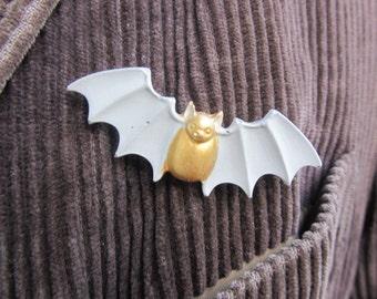 Concrete Bat Brooch, Concrete Jewellery, Cement Jewellery, Bat Brooch