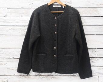 Vintage wool jacket / Cardigan 100% wool / off wife