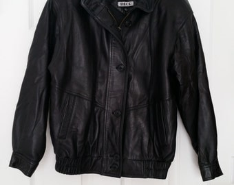 Women's Black Genuine Leather Jacket