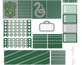 Printable Harry Potter Slytherin Planner Stickers