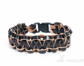 Leather Bracelet / Cobra bracelet