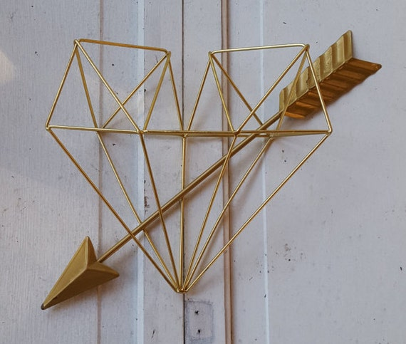 Gold Arrow Wall Decor : Metal arrow wall decor gold