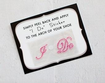 I Do Rhinestone Shoe Stickers for Brides, Wedding Shoes Sticker, Bridal Details | PINK