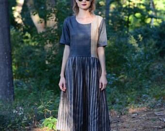 Dakota Dress : Raw silk loose fitting dress