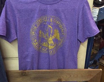 Louisiana Seal (distressed) Purple and Gold