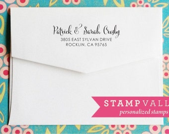 Return Address Stamps - Self Inking Address Stamps, Personalized Team Gift, Closing Gift. 1055