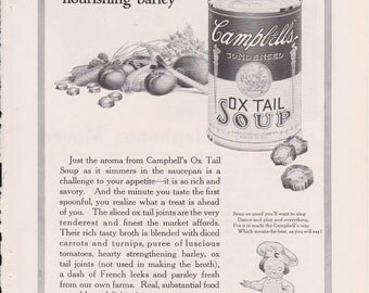 Campbell's Soup + Bell Telephone Vintage Ad