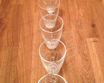 Cut Crystal (set of 6)  Stemware, Wine Glasses, Wedding Gift, Cut Glass, Glass Set