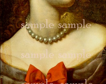 SALE no6328 Instant Digital DownLoad > Beautiful Painted Renaissance Woman > Digital Collage Sheet > clip art > Art Graphics