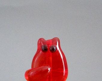 Cat Bead Handmade Lampwork Focal - Ellen FatCat