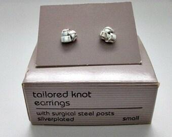 Avon Tailored Knot Vintage Tiny Stud Pierced Earrings in Original Box / 5.00 Vintage Avon Earrings Jewelry