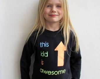 This Kid Is Awesome T shirt | Girls t shirt|Boys T shirt|Unisex T shirt| girls gift|boys gift|sparkle t shirt