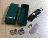 Vintage Domestic Buttonholer With Case , manual and four templates