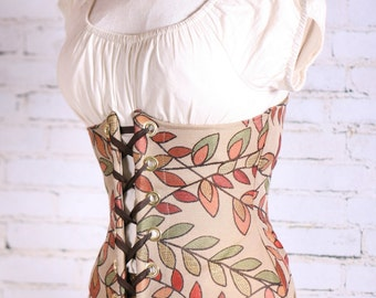 All Sizes LIMITED SUPLY Autumn Leaves  Wench Corset