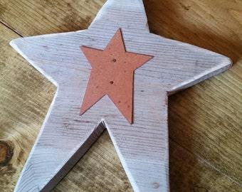 Rustic Wood Star