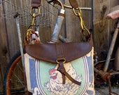Reserved for griffin goddess - Hubbards Sunshine - Chicken - Small Leather Messenger