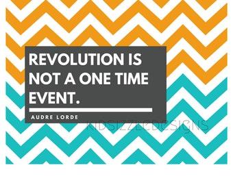 Audre Lorde Womanist feminist Wall Art Print