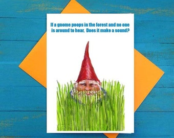Gnome poop greeting card