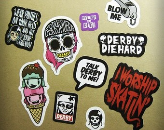 Roller Derby Vinyl Sticker Sheet
