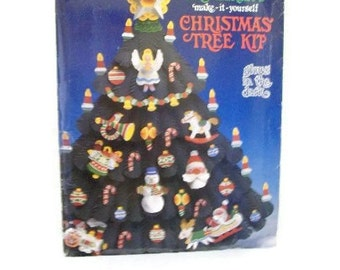 Vintage DIY Christmas Tree Kit That Glows In The Dark
