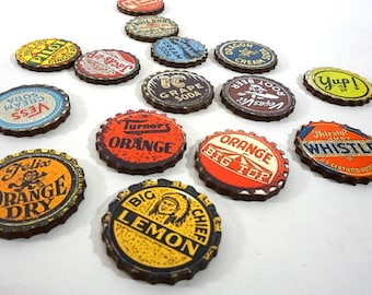 Wood Bottle Caps - Vintage Looking Caps for Crafting and Art Projects