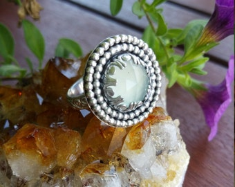 Sterling Aqua Chalcedony Ring