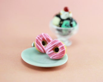 Too Pink Donut Studs / Post Earrings