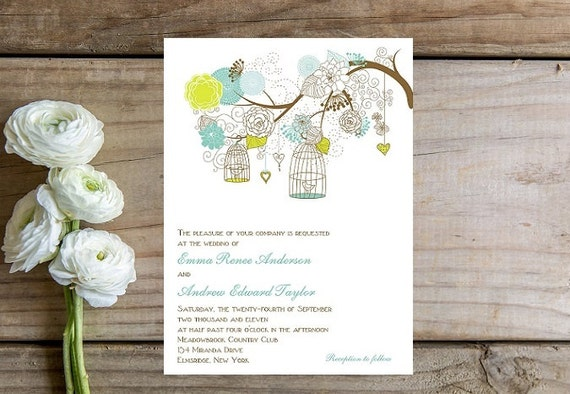 Floral Wedding Invitations - Unique, Rustic Charm Theme