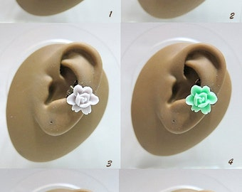 Choose Any One Of These 6 Simple Copper Ear Cuff With Flower Rose Ear Vine Ear Wrap Nature Garden