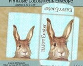 Instant Download - Printable Cocoa/Treat Envelope - Happy Easter Bunny 102 - Digital PDF and/or JPG File