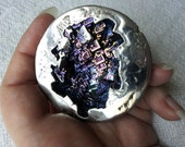 "XLarge 2.5"" Bismuth Geode High Quality Rainbow Bismuth Crystal Purple, Gold, Alchemy, Magick, Altar Piece, Display, Gift, Jewelry"