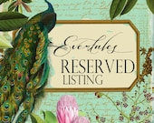 RESERVED LISTING for Sofie