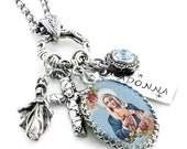 Religious Jewelry, Religious Pendant, Catholic Jewelry, Madonna Pendant, Madonna and Child, Virgin Mary Jewelry, Baby Jesus and Mary