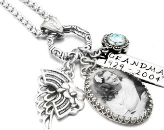 Custom Memorial Jewelry, Customized Memorial Necklace, Loss Jewelry, Remembrance Jewelry, Memory Jewelry
