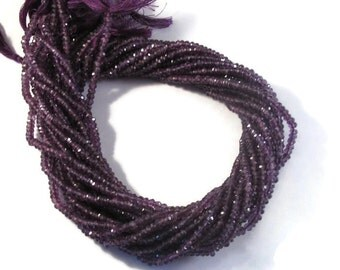 Purple Amethyst Beads, Medium Purple, 3-4mm Faceted Rondelles, 7 Inch Strand, Natural Gemstone Beads, For Necklace, Jewelry Supplies (R-Am3)