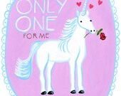 You're the Only One for Me Unicorn card