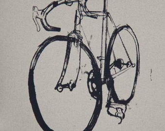 Bike Art Print - Classic Cinelli Road Bicycle - On Nideggen Paper