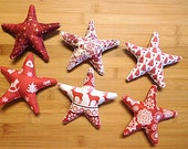 Red and White Christmas Star Bowl Filler Ornaments